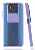 Eiroo Lens Series Xiaomi Poco X3 Mor Silikon Kılıf