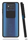 Eiroo Lens Series Xiaomi Poco X3 Siyah Silikon Kılıf