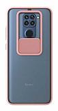 Eiroo Lens Series Xiaomi Redmi Note 9 Pembe Silikon Kılıf