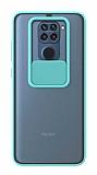 Eiroo Lens Series Xiaomi Redmi Note 9 Mavi Silikon Kılıf