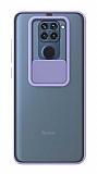 Eiroo Lens Series Xiaomi Redmi Note 9 Mor Silikon Kılıf