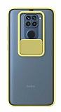 Eiroo Lens Series Xiaomi Redmi Note 9 Sarı Silikon Kılıf