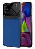 Eiroo Harbor Samsung Galaxy M51 Lacivert Silikon Kılıf