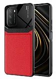 Eiroo Harbor Xiaomi Redmi 9T Kartlıklı Kırmızı Silikon Kılıf