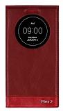 Eiroo LG G Flex 2 Gizli Mıknatıslı Uyku Modlu Kırmızı Kılıf