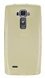 LG G Flex 2 Ultra İnce Şeffaf Gold Silikon Kılıf