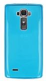 LG G Flex 2 Ultra İnce Şeffaf Mavi Silikon Kılıf