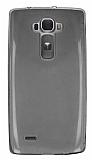 LG G Flex 2 Ultra İnce Şeffaf Siyah Silikon Kılıf