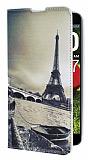 Eiroo LG G Pro Lite Eiffel Kulesi Gizli M�knat�sl� Standl� Deri K�l�f