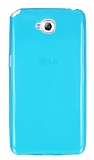 Eiroo LG G Pro Lite Ultra �nce �effaf Mavi Silikon K�l�f