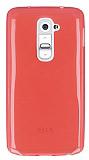 Eiroo LG G2 Ultra �nce �effaf Koyu Pembe Silikon K�l�f