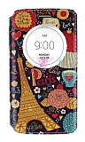 LG G3 S / G3 Beat Gizli Mıknatıslı Pencereli Paris Deri Kılıf