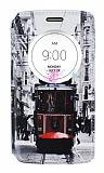 LG G3 S / G3 Beat Gizli Mıknatıslı Pencereli Taksim Deri Kılıf