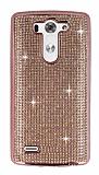 Eiroo LG G3 S / G3 Beat Taşlı Rose Gold Silikon Kılıf