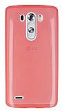 LG G3 S / G3 Beat Ultra İnce Şeffaf Pembe Silikon Kılıf
