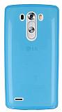 LG G3 S / G3 Beat Ultra İnce Şeffaf Mavi Silikon Kılıf