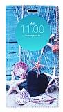 LG G4 Gizli Mıknatıslı Pencereli Deniz Yıldızı Deri Kılıf