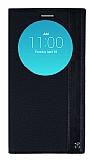 LG G4 Gizli Mıknatıslı Uyku Modlu Siyah Deri Kılıf