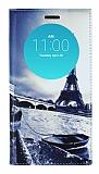 LG G4 Gizli Mıknatıslı Pencereli Eiffel Deri Kılıf