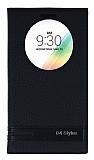 Eiroo Phantom LG G4 Stylus Gizli Mıknatıslı Pencereli Siyah Deri Kılıf
