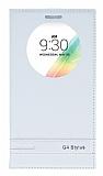 Eiroo Phantom LG G4 Stylus Gizli Mıknatıslı Pencereli Beyaz Deri Kılıf