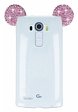 LG G4 Taşlı Kulaklı Pembe Silikon Kılıf