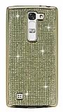 Eiroo LG G4c Taşlı Gold Silikon Kılıf