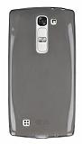 LG G4c Ultra İnce Şeffaf Siyah Silikon Kılıf