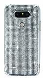 Eiroo LG G5 Taşlı Silver Silikon Kılıf