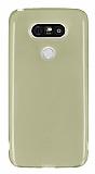 LG G5 Ultra İnce Şeffaf Gold Silikon Kılıf
