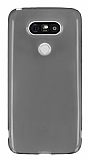 LG G5 Ultra İnce Şeffaf Siyah Silikon Kılıf