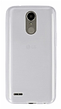 Eiroo LG K10 2017 Ultra İnce Şeffaf Silikon Kılıf