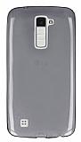 LG K10 Ultra İnce Şeffaf Siyah Silikon Kılıf