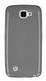 LG K4 Ultra İnce Şeffaf Siyah Silikon Kılıf