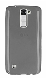 LG K7 Ultra İnce Şeffaf Siyah Silikon Kılıf