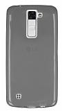 LG K8 Ultra İnce Şeffaf Siyah Silikon Kılıf