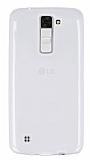LG K8 Ultra İnce Şeffaf Silikon Kılıf