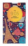 LG L Bello Gizli Mıknatıslı Pencereli Paris Deri Kılıf