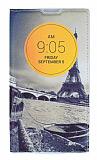 LG L Bello Gizli Mıknatıslı Pencereli Eiffel Deri Kılıf