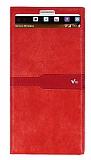 Eiroo LG V10 Gizli Mıknatıslı Pencereli Kırmızı Deri Kılıf