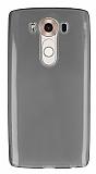 LG V10 Ultra İnce Şeffaf Siyah Silikon Kılıf