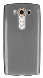 Eiroo LG V10 Ultra İnce Şeffaf Siyah Silikon Kılıf