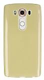 Eiroo LG V10 Ultra İnce Şeffaf GoldSilikon Kılıf