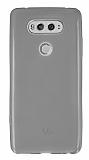 LG V20 Ultra İnce Şeffaf Siyah Silikon Kılıf