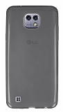 LG X cam Ultra İnce Şeffaf Siyah Silikon Kılıf