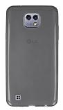 Eiroo LG X cam Ultra İnce Şeffaf Siyah Silikon Kılıf
