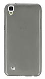 LG X Power Ultra İnce Şeffaf Siyah Silikon Kılıf