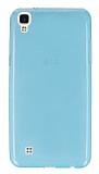 LG X Power Ultra İnce Şeffaf Mavi Silikon Kılıf