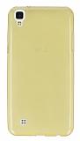 LG X Power Ultra İnce Şeffaf Gold Silikon Kılıf
