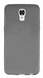 LG X screen Ultra İnce Şeffaf Siyah Silikon Kılıf